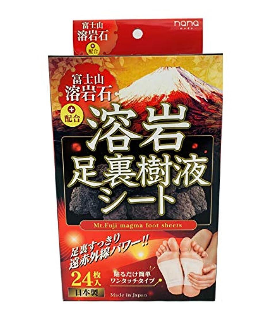 夫婦彼女の症候群富士山溶岩石足裏樹液シート24枚
