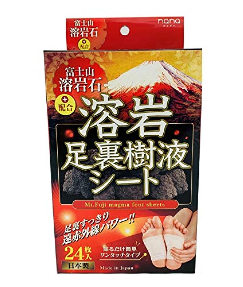 富士山溶岩石足裏樹液シート24枚