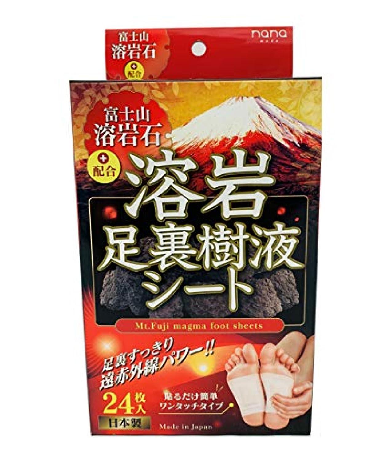 陰謀効果的に最小化する富士山溶岩石足裏樹液シート24枚