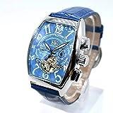 ●●海外並行輸入品 トレンド 海外ブランド 高級腕時計 スケルトン 革ベルト フランクミュラー好きな方必見! h-136