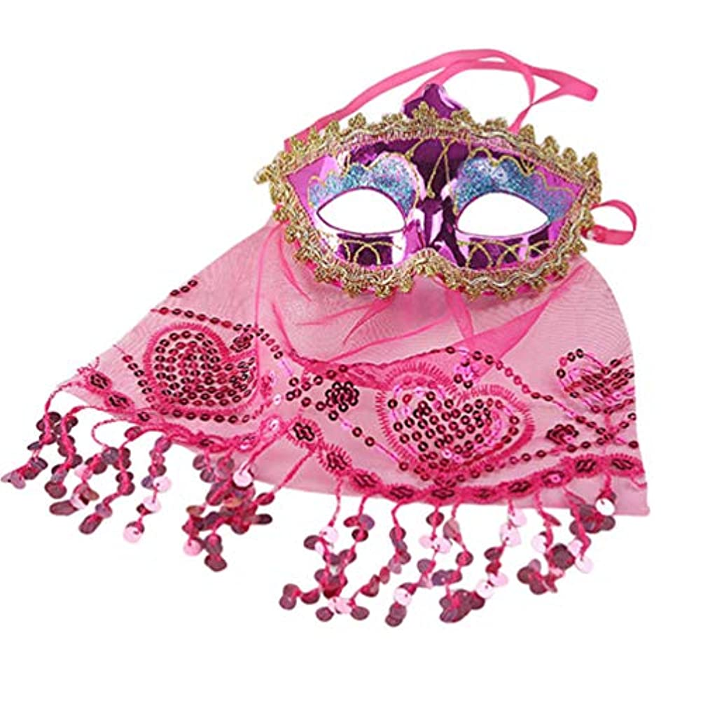 花弁同意する好奇心TOYANDONA ベールマスク ベリーダンスベール 踊り パーティー 魅力的 仮面舞踏会マスク ハロウィンコスチューム