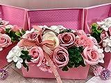 フレグランス シャボンフラワー ソープフラワー 薔薇 枯れない 花 ブーケ タイプ 溢れる お花 ボックス タイプ プレゼント 花束 母の日 父の日 出産祝い 結婚祝い お見舞い 誕生日 石鹸 香り ギフト お祝い ラッピング 包装 (ピンクボックス)