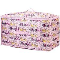大型収納袋ピンク漫画動物柄オックスフォード布防水性防湿性ポータブル高品質旅行オーガナイザー羽毛布団キルト衣類移動仕上げ荷物預かり袋 (サイズ さいず : 50 * 35 * 30cm)