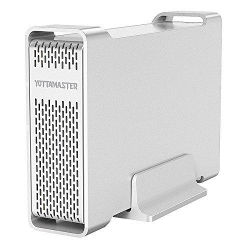 Yottamaster USB3.0 3.5インチ HDD ケース SATA3.0接続 外付け ハードディスクケース UASP加速対応 5Gbpsの転送速度 8TB ネジ回し付属 D35Pro シルバー アルミ製