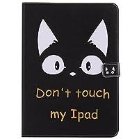 iPad 9.7(2018/2017) ケース iPad 9.7(2018/2017) カバー アイパッド 9.7(2018/2017) カバー可愛い 猫柄 レザーケース 多段階調整可 カード収納 スタンド機能 ポケット付き マグネット式 タブレットカバー ケース 耐衝撃 薄型 全面保護 手帳型 スマートケース【Astarz】