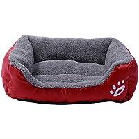 inverlee子犬ベッド、ペット犬猫ベッドクッションハウスソフト暖かい犬小屋犬マットブランケット L