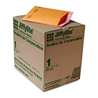 Sealed Air 39092 Jiffylite Self-Seal Mailer Side Seam #1 Golden Brown 100/carton