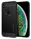 【Spigen】 スマホケース iPhone XS Max ケース 対応 TPU 米軍MIL規格取得 ラギッド・アーマー 065CS25125 (マット・ブラック)