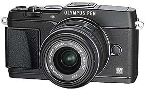 OLYMPUS マイクロ一眼 PEN E-P5 14-42mm レンズキット(ビューファインダー VF-4セット) ブラック E-P5 14-42mm LKIT BLK