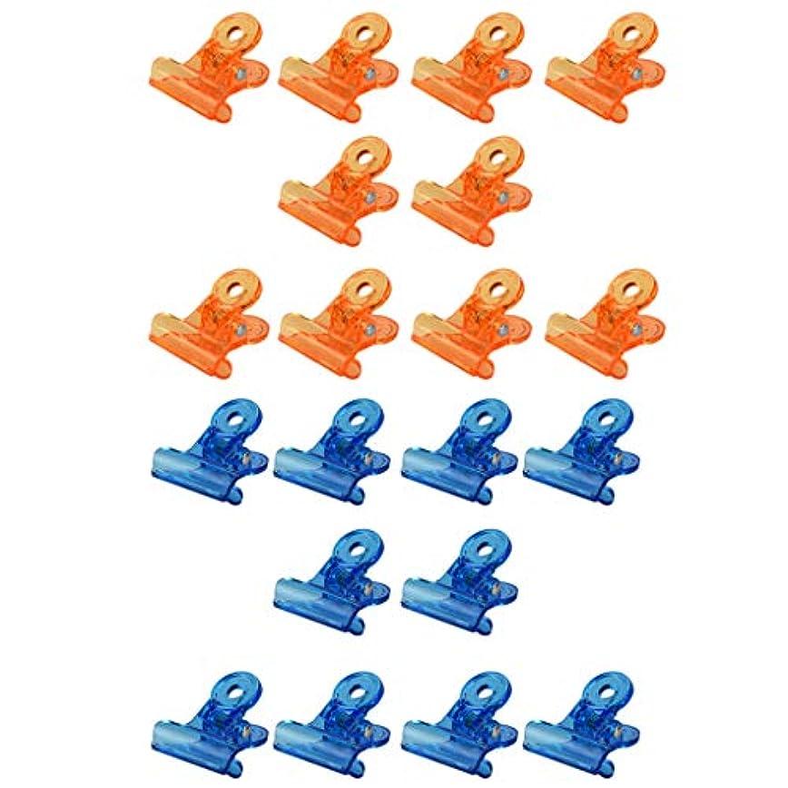 バリー胚葬儀DYNWAVE ジェルネイルポリッシュ クリーナー ネイルクリップ ネイルアート アクリル 20個セット 全3種 - オレンジ+ブルー
