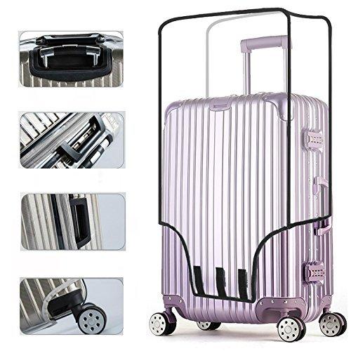 スーツケースカバー 防水 透明 クリア ビニール カバー (24インチ, 透明)