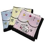 (イルソーレ) il sole 新柄 ガールズ 女児 日本製 ハンカチ 3枚 セット 綿100% スクール B