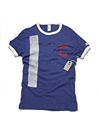 (トッドスナイダー×チャンピオン) TODD SNYDER × CHAMPION スラブ リンガー グラフィックティーシャツ Tシャツ ティーシャツ メンズ ヴィンテージ ネイビー [並行輸入品]