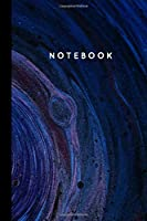 Journal Notebook: Dotted / Dot Grid Paper -  150 Pages (8.5 x 11)  - Watercolor Artwork Abstract Marble Minimalistic Design Style