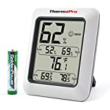 ThermoPro TP50 Hygrometer Indoor Humidity Monitor Weather Station with Temperature Gauge Humidity Meter by ThermoPro