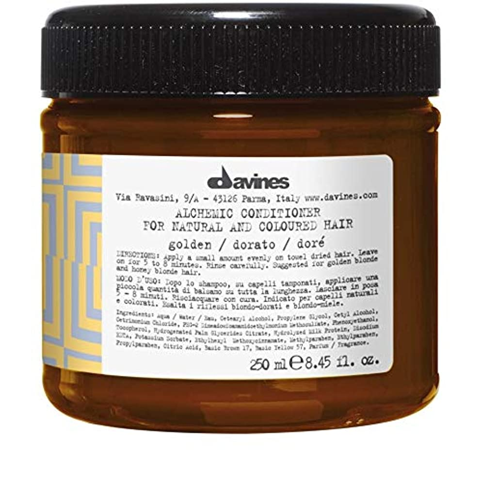 海藻高揚したポインタ[Davines ] ダヴィネス錬金術コンディショナー黄金の250ミリリットル - Davines Alchemic Conditioner Golden 250ml [並行輸入品]