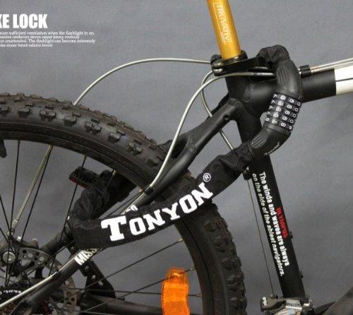 【ダイヤル式チェーンロック】TONYON 自転車・バイク用 ...