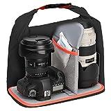 【Amazon.co.jp 限定】HAKUBA 防湿カメラケース ドライソフトボックス L ブラック×オレンジ AMZKDSBLBK 画像