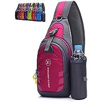 Peicees Chest Crossbody Sling Backpack Bag Travel Bike Gym Daypack for Women Men