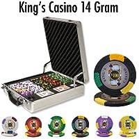 500 Ct King 's Casino 14 Gram Poker ChipセットW / Claysmithケース