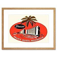 Travel Hotel Advert Palace Monrovia Liberia Palm Framed Wall Art Print 旅行ホテル広告宮殿リベリア壁