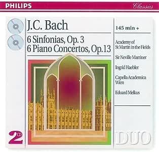 J.C.Bach: 6 Sinfonias Op.3 6 Piano Concertos Op.13
