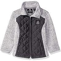 Reebok Girls' Active Sweater Fleece Jacket with Quilting,