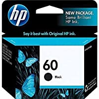 HP 60 Black Original Ink Cartridge With Print laser-quality text, graphics and images - CC640WN (QTY-2) [並行輸入品]