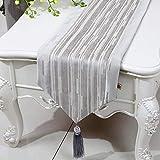テーブルランナー ホームデコレーション 北欧 工芸品 おしゃれ 結婚式 パーティー 芸術 装飾 (Size : 33*150cm)