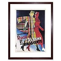 Rhodia Fabric Albene Rinascente Department Store Italy Framed Wall Art Print イタリア壁