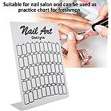 プロ品質 ネイルカラージェルネイルポリッシュディスプレイカード(ネイル練習用マニキュアツール)(1)