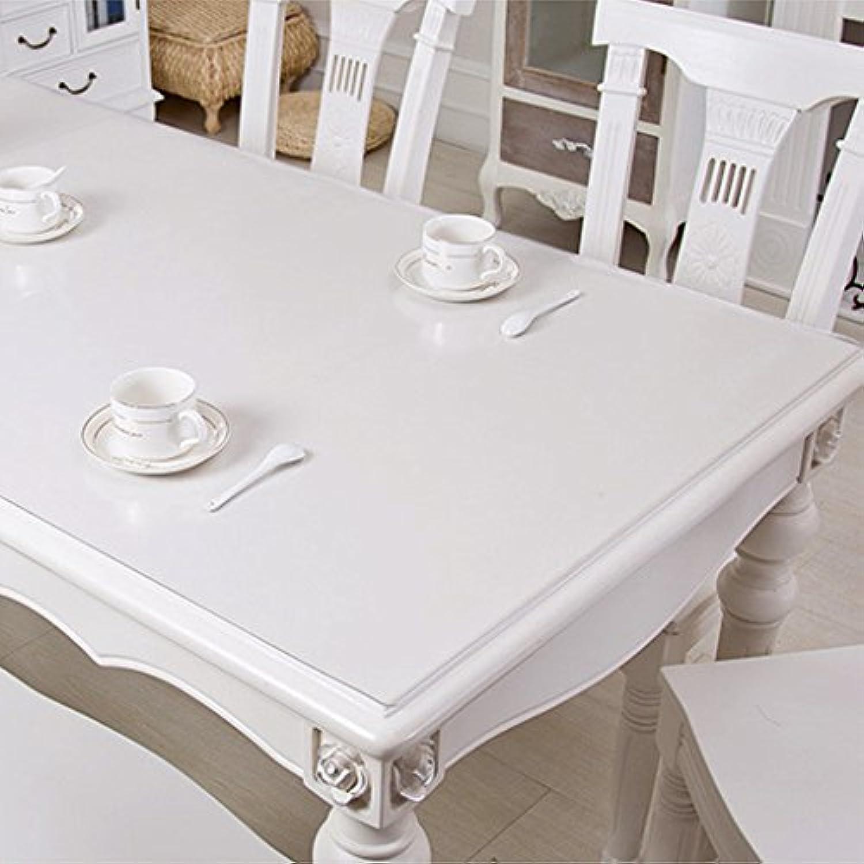 テーブルクロス 柔らかいガラスのPVCテーブルクロス防水アンチホットオイルテーブルクリスタルテーブルコーヒーテーブル透明なパッド (Color : 1.5mm, Size : 90x160cm)