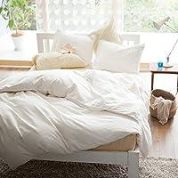 Fab the Home ボックスシーツ ホワイト セミダブル(120x200x30cm) ダブルガーゼ FH132820-100