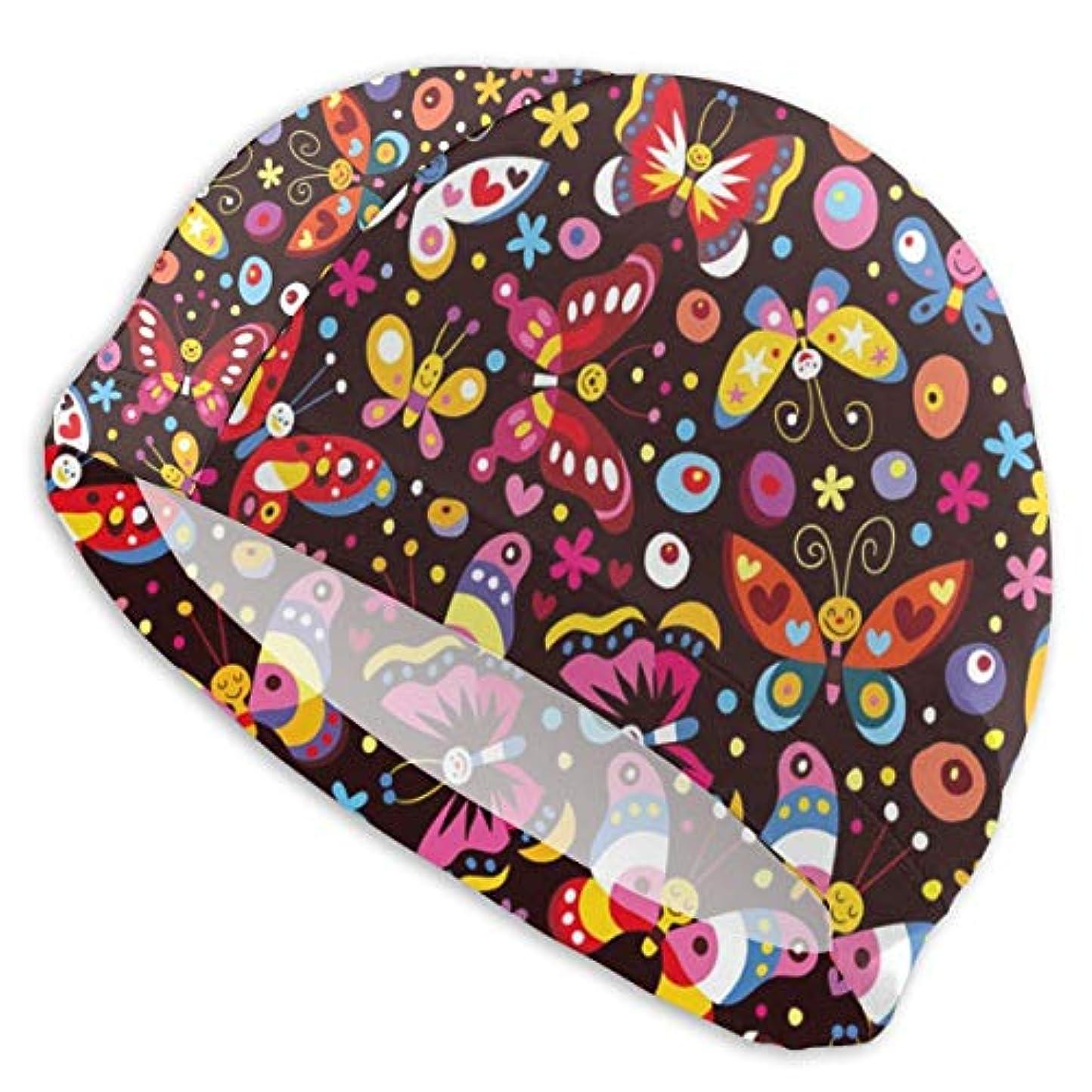 普通に苦会議かわいい蝶のパターン スイムキャップ 水泳帽 水着 キャップ 水泳 競泳 メンズ レディース 大人用