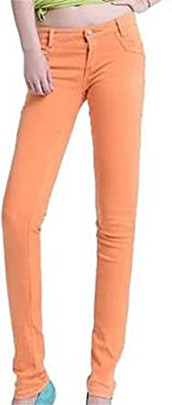 [スプリングスワロー] レディース カラフル カラー スキニー デニム ジーンズ パンツ ジーパン ストレッチ おしゃれ ファッション