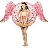 浮き輪 大人用 羽 120cm ピンク ラメ入り 女の子 インスタ フロート 空気入れ 海 プール 海水浴 ビーチ 夏休み 夏の日 キラキラ 浮輪 浮き具 ビッグサイズ 水泳リング