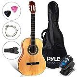 "Beginner 30"" Classical Acoustic Guitar - 1/4 Junior Size 6 String Linden Wood Guitar w/Gig Bag, Tuner, Nylon Strings, Picks, Strap, For Beginners, Adults - Pyle PGACLS30"