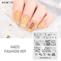 KADS ネイルスタンププレート スタンピングネイルプレート ネイルイメージプレート (FA059)