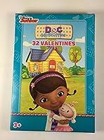 Disney Junior Doc McStuffins 32Valentines Classroom ExchangeカードFold andシール8楽しいデザイン