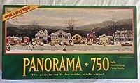 Norman Rockwell Panorama 750ピースパズル–メインストリートStockbridge atクリスマス–Over 3Feetワイド
