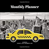 "Monthly Planner: NYC taxi; 24 months; January 1, 2020 - December 31, 2021; 8.5"" x 8.5"""