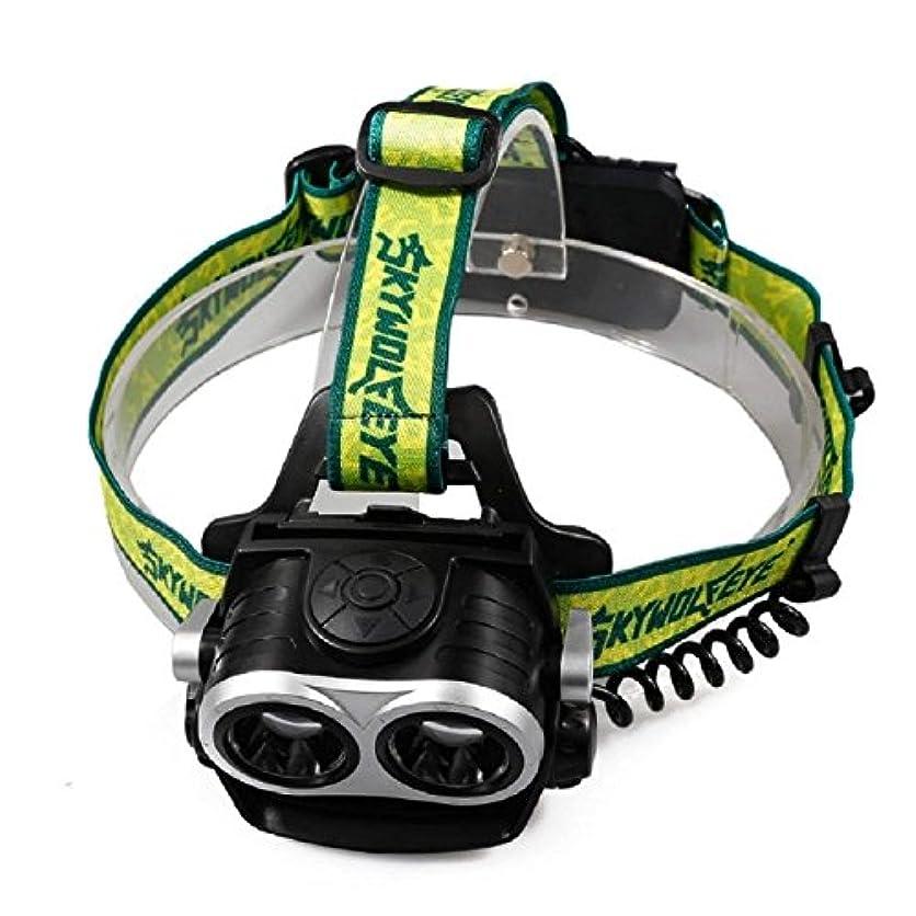 警告ゴシップ家庭教師ヘッドトーチ、ヘッドライトUSB充電式ヘッドライト8000??LM LED調整可能3モード防水ランニング、サイクリング、犬の散歩、釣り、ハイキング