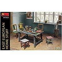 ミニアート 1/35 東欧の家財道具 (テーブル・イス・食器・ストーブ) プラモデル MA35584