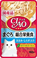 (まとめ買い)いなばペットフード CIAOパウチ 総合栄養食 まぐろ ささみ・しらす入り 40g IC-304 猫用 【×48】