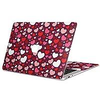 MacBook Air 13inch 専用スキンシール マックブック 13インチ Mac Book Air 2010年~2017年モデル対応 カバー ケース フィルム ステッカー アクセサリー 保護 ラブリー ハート 模様 ピンク 003416