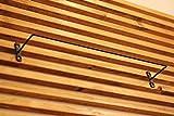 アイアン アンティーク ルーム バー タオルハンガー や タオル掛け に ( ネジ 4本 付き ) (42cm)