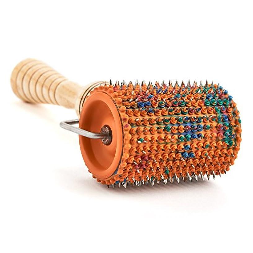 欺く通常文献Acupuncture for Body Massage - Acupressure Applicator Lyapko Roller UNIVERSAL-M (with rubber bushings) by Lyapko