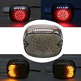 XPLIGHT ハーレーFLST用 LEDテールランプ DRL(レッド)とウィンカー機能付き(琥珀色) 明らかなブレーキ 一年保障付き