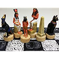 Egyptian / Egypt Set of Chess Men Hand Painted - NO BOARD by HPL [並行輸入品]
