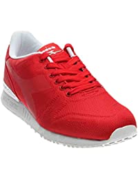 Diadora Titan flyメンズレッド合成Athletic Lace Up Running Shoes